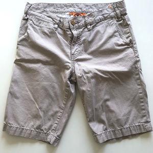 Tory Burch Beige Khaki Bermuda Chino Shorts